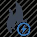 energy, fire, power icon