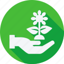 ecology, energy, environment, hand, leaf, nature, power, solar, tree icon