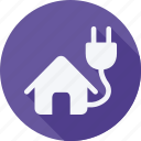 ecology, energy, environment, nature, plug, power, solar icon