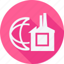 ecology, power, earth, factory, global, industry, planet icon