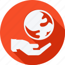 ecology, environment, nature, planet earth, earth, hand, world icon