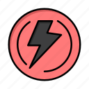 bolt, industry, light, power, voltage icon
