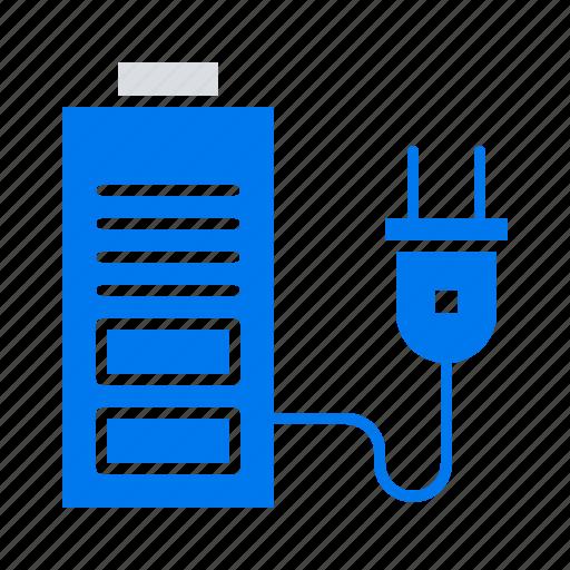 acumulator, battery, plug, power icon