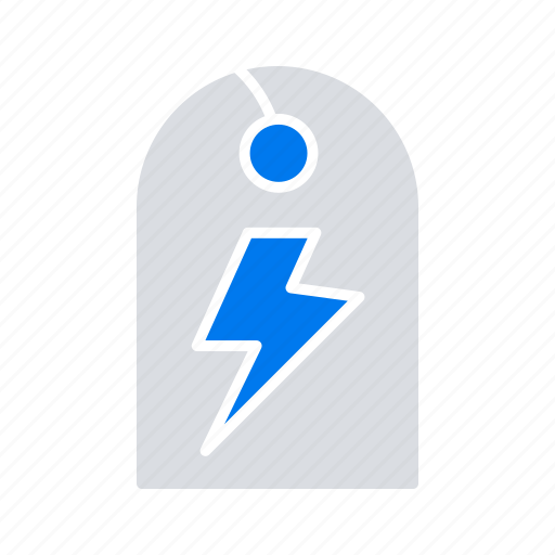 energy, power, sign, tag icon