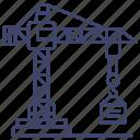 harbor, construction, tower, crane icon