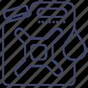 oil, fuel, gasoline, petrol icon