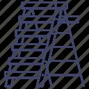 household, ladder, ladders, steel icon