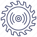 factory, mechanics, saw, workshop icon