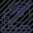 compound, miter, saw, workshop icon