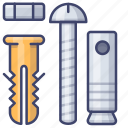 engineer, expansion, pin, screw icon