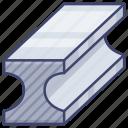 alloy, bar, metal, steel icon