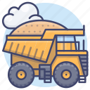 construction, equipment, heavy, truck icon