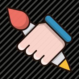 brush, design, graphics, tool icon