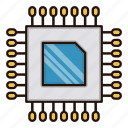 computer, cpu, electronics, processor icon