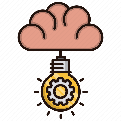 brain, bulb, creative, idea, light, mind icon