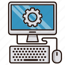 computer, engineering, help, it, online, repair icon