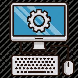 computer, engineering, help, it, online, repair icon