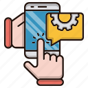 engineering, help, mobile, online, repair icon
