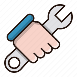 hand, repair, tools, wrench icon