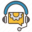chat, headphone, help, support, tech icon