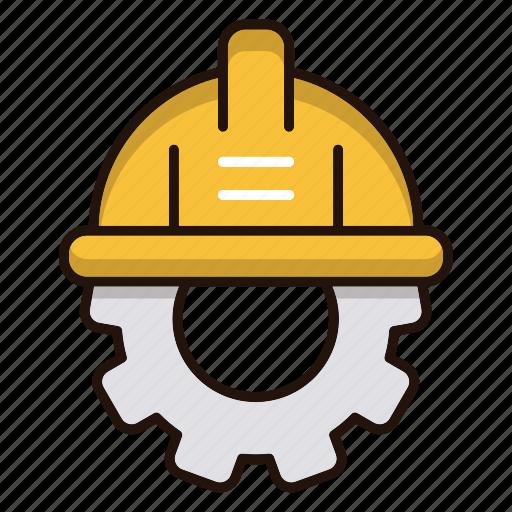 engineering, gear, hat, repair icon