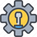 cog, engineering, gear, industrial, manufacturing, process icon