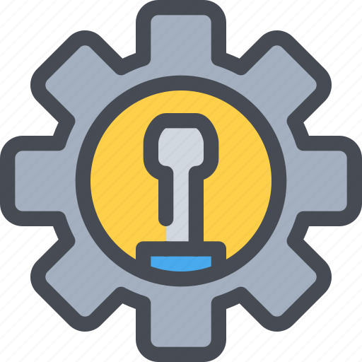 Cog, engineering, gear, industrial, manufacturing, process icon - Download on Iconfinder