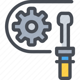 cog, gear, industrial, manufacturing, process, tool icon
