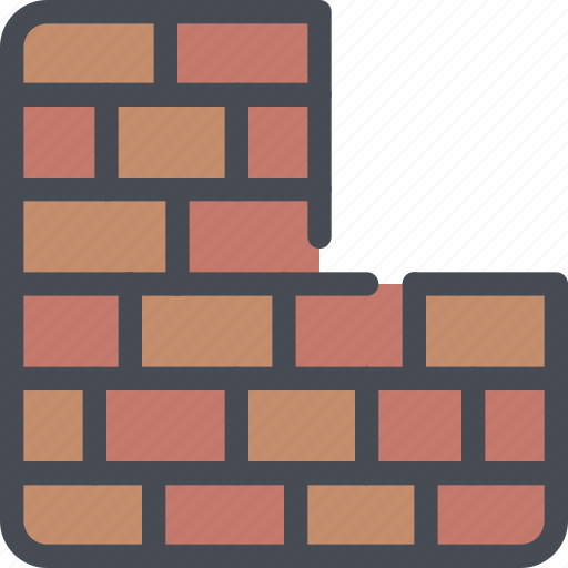 civil, construction, firewall, security, wall icon