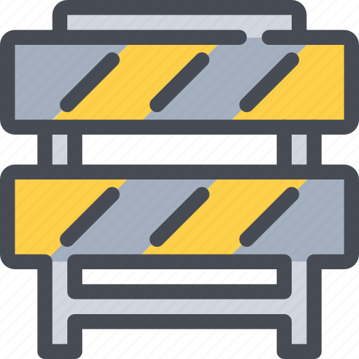 barrier, civil, construction, road, traffic icon