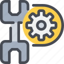 cog, gear, industrial, process, tool icon