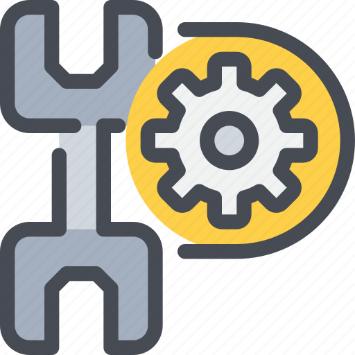 cog, gear, industrial, process, tool icon