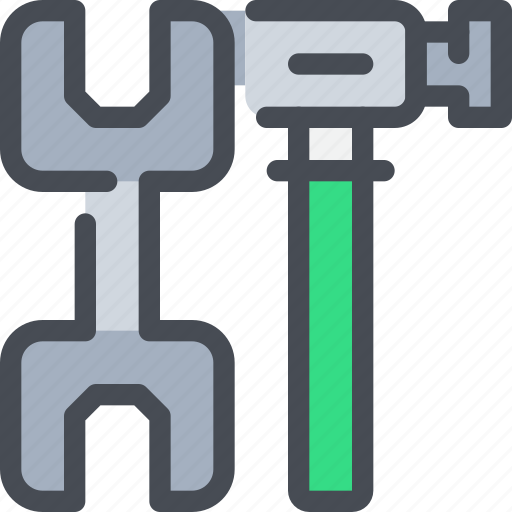 civil, construction, hammer, industrial, manufacturing, tool icon