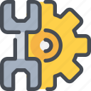 civil, cog, gear, industrial, manufacturing, process, tool icon
