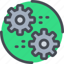 cog, engineering, gear, industrial, process icon