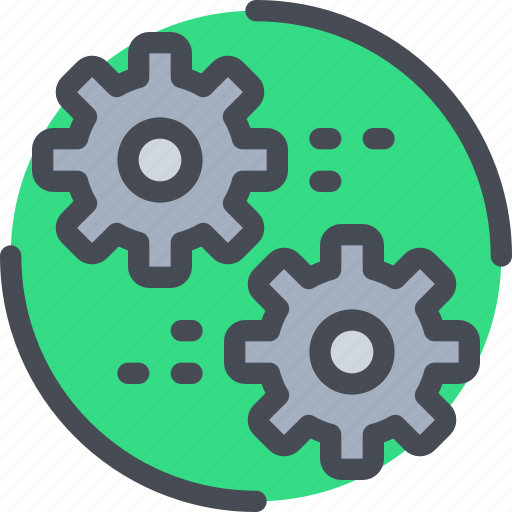Cog, engineering, gear, industrial, process icon - Download on Iconfinder