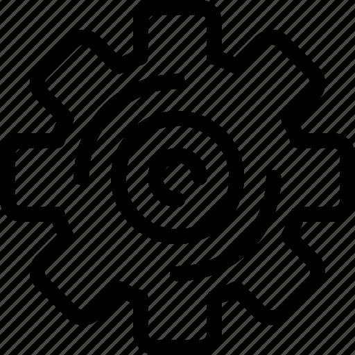cogwheel, engineer, gear, manufacturing, process icon