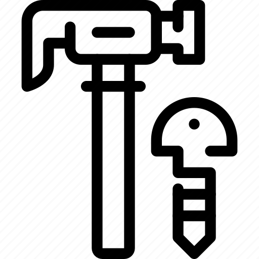 engineer, hammer, manufacturing, tool icon