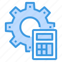 calculator, engineer, factory, industrial, manufacturing icon