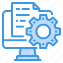 computer, engineer, factory, file, industrial, manufacturing icon