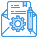email, engineer, factory, industrial, manufacturing icon