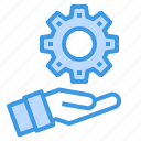 engineer, factory, industrial, manufacturing, setting icon