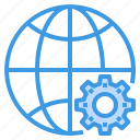 engineer, factory, industrial, internet, manufacturing, world icon