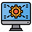 computer, engineer, factory, industrial, manufacturing