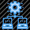 cogwheel, computer, engineer, engineering, management, network icon