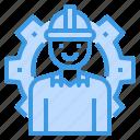 engineer, gear, man, occupation, worker