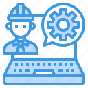 engineer, man, occupation, software, worker