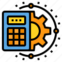 calculating, calculator, engineer, industry, technology icon