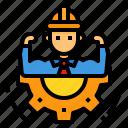 avatar, engineer, management, occupation, worker