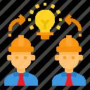 brainstorm, creative, engineer, idea, team